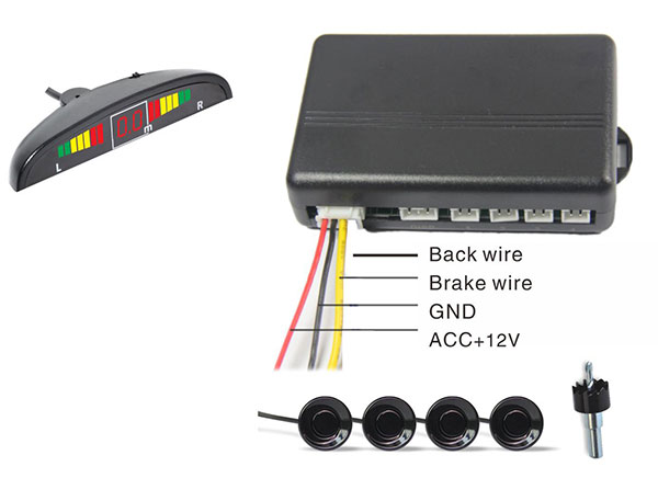 Front Parking Sensor with LED display