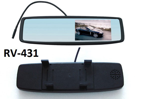 "4.3"" Clip On Rearview Mirror Monitor"
