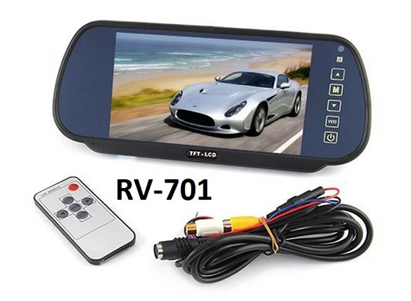"7"" Clip On Rear-view Mirror Monitor"
